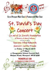 St David's Day Concert Poster