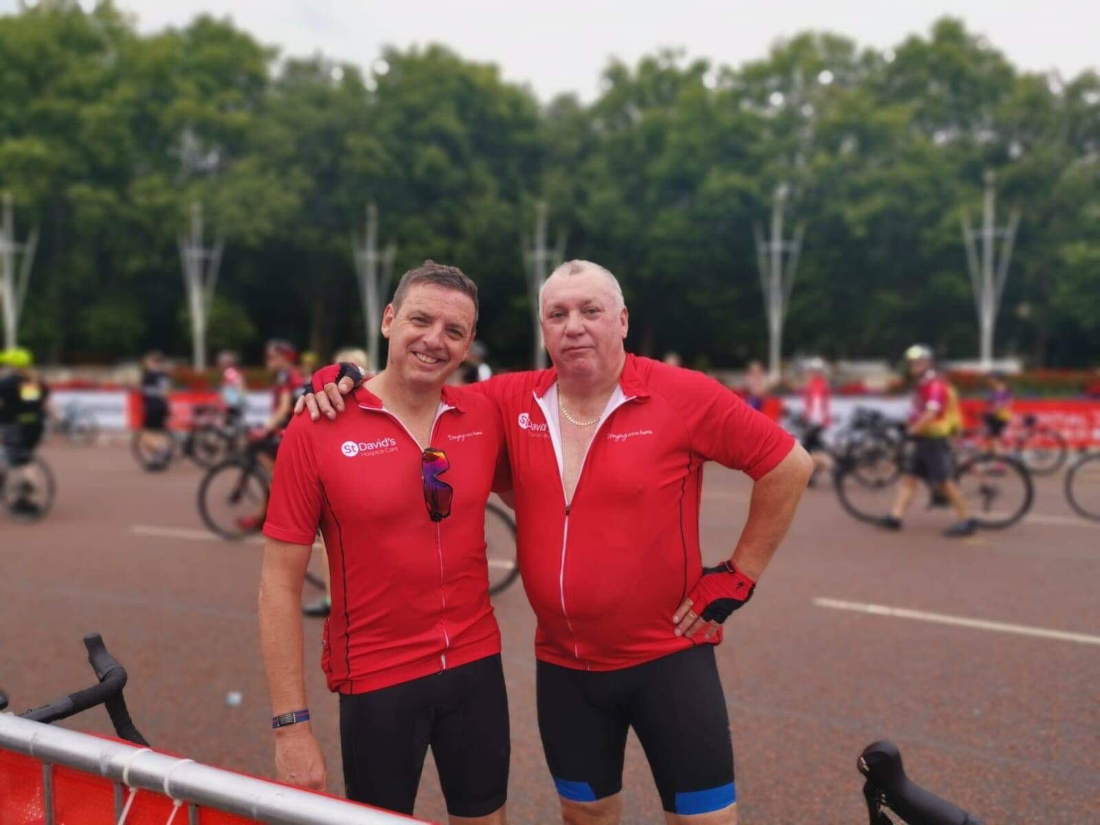 Ian and Andrew Hestletine Ride London 2019