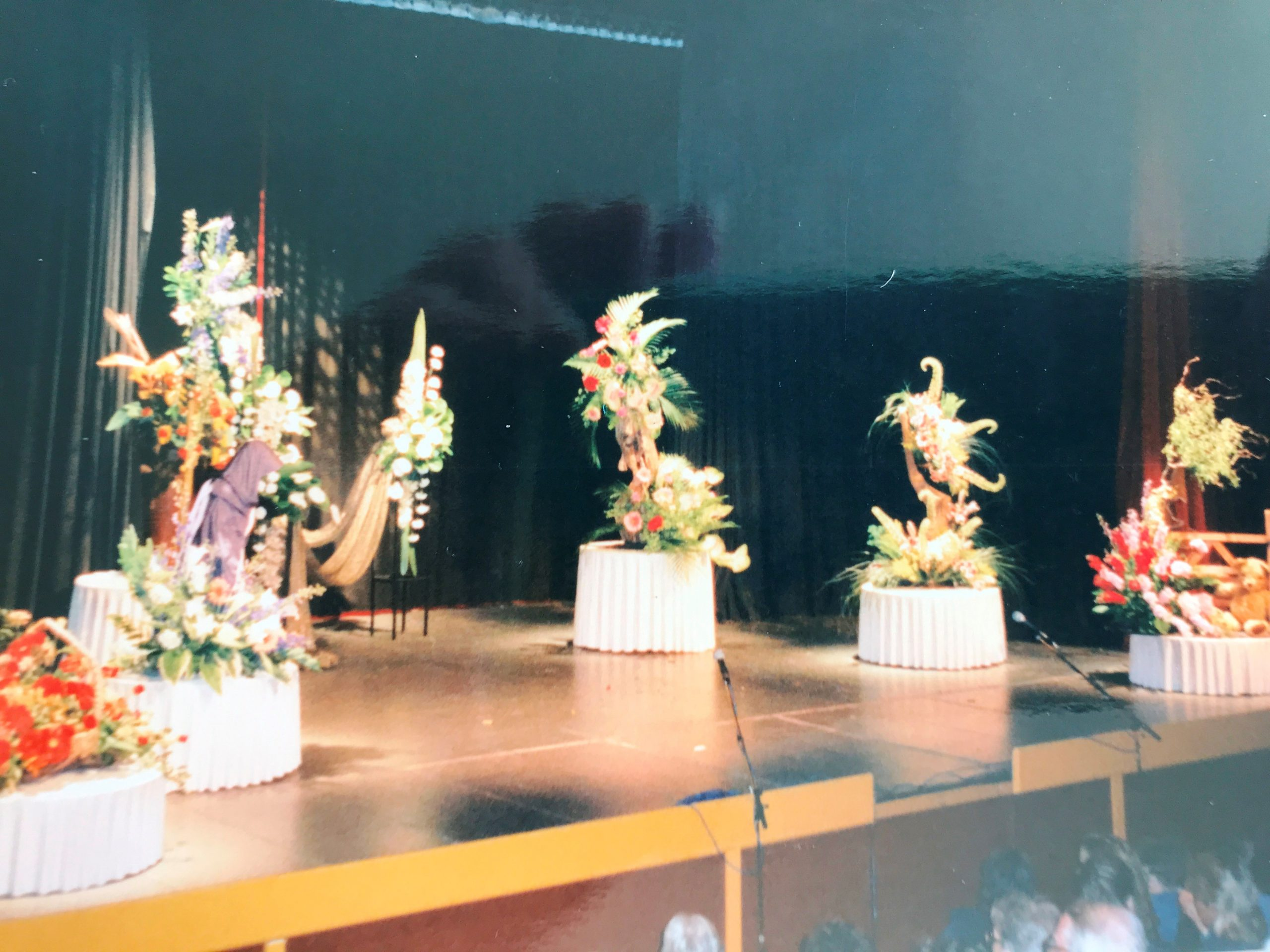 Floral demonstration at the Congress Theatre